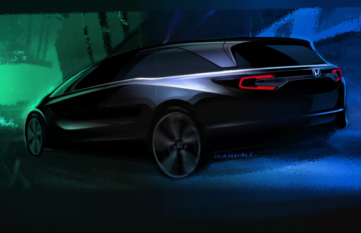 Honda Odyssey Teaser Sketch