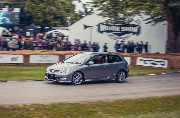 111018 25 Years Of Type R At Goodwood Festival Of Speed 2017