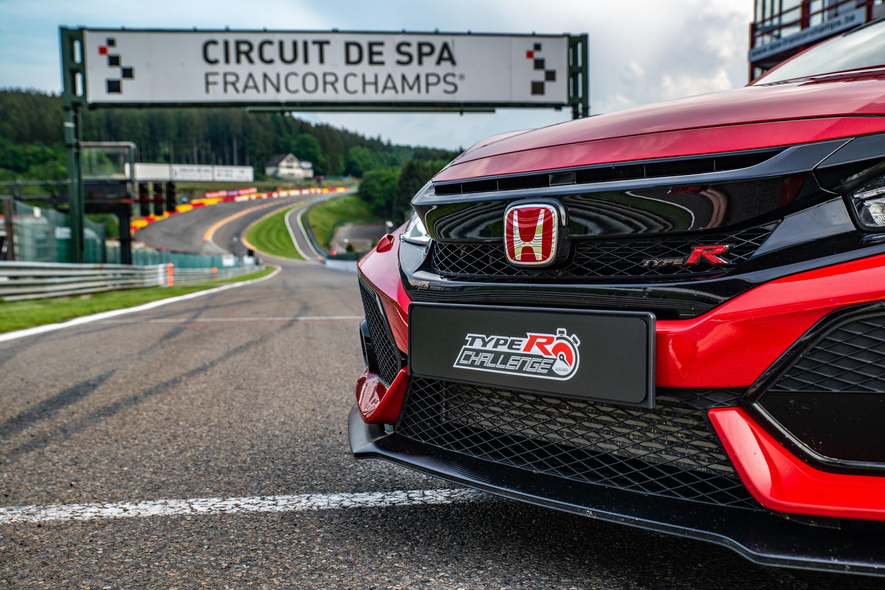132832 Type R Challenge 2018 Hits Eau Rouge Japanese Super GT Star Bertrand